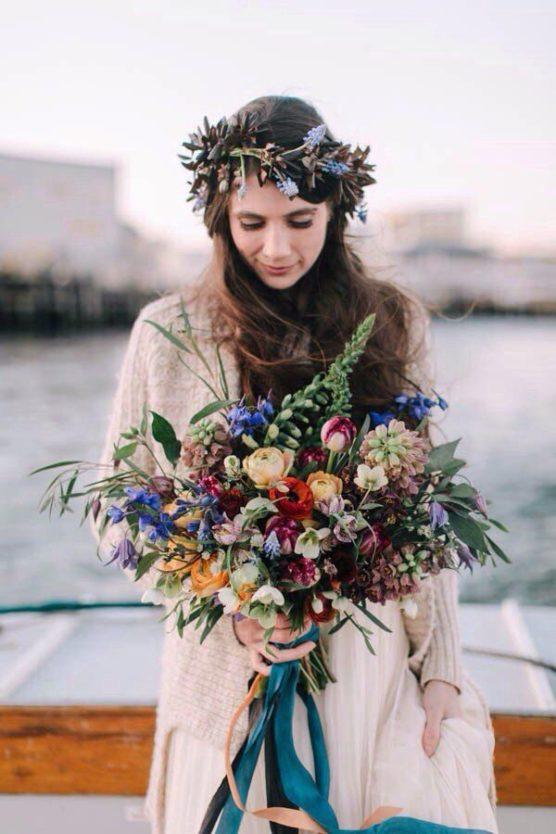 Osenniy-svadebnyy-buket-8-556x834 Осенний свадебный букет., картинка, фотография