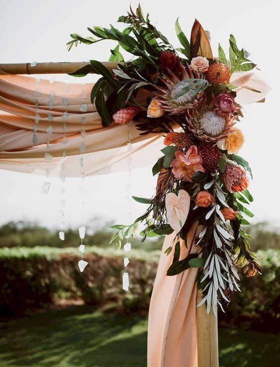 dekor-osennej-svadby-4 Оформление свадьбы осенью в Крыму., картинка, фотография