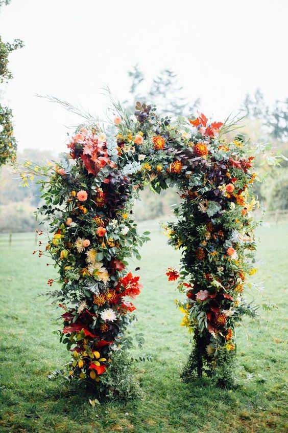 dekor-osennej-svadby-7-564x846 Оформление свадьбы осенью в Крыму., картинка, фотография