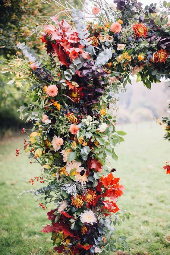 dekor-osennej-svadby-8-564x846 Оформление свадьбы осенью в Крыму., картинка, фотография