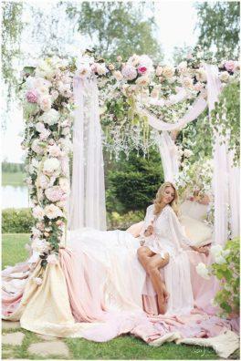 buduarnoe-utro-nevesty-2-264x396 Оформление свадьбы цветами, картинка, фотография
