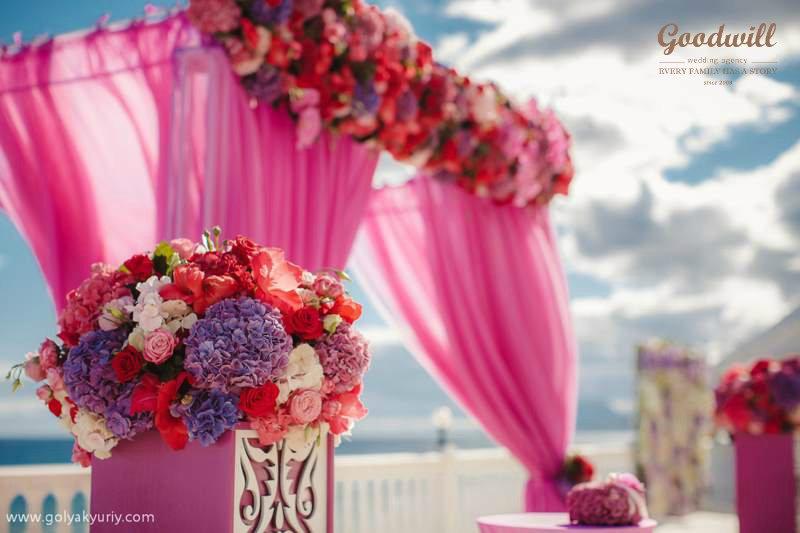 oformlenie-svadby-cvetami-20 Оформление свадьбы цветами, картинка, фотография