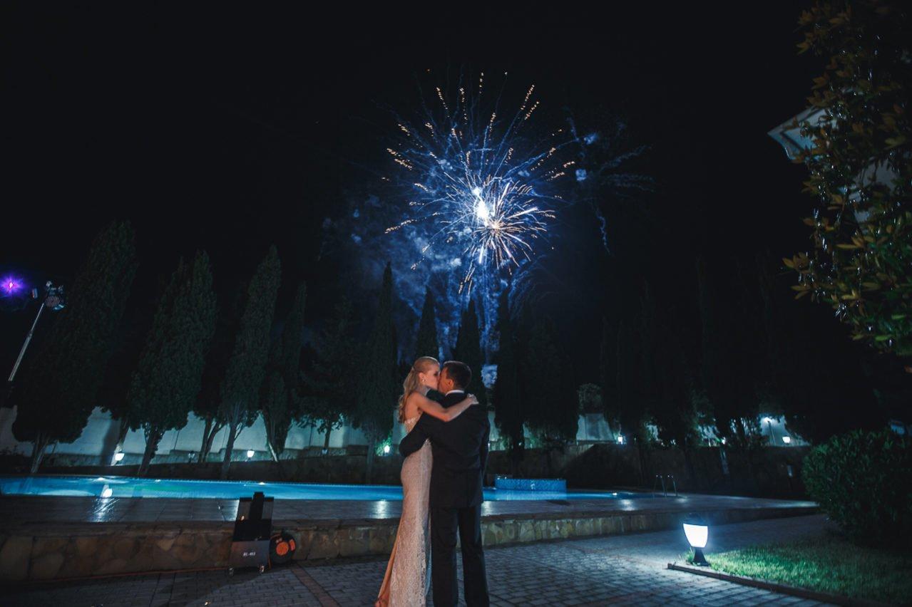 Свадебный салют в Крыму