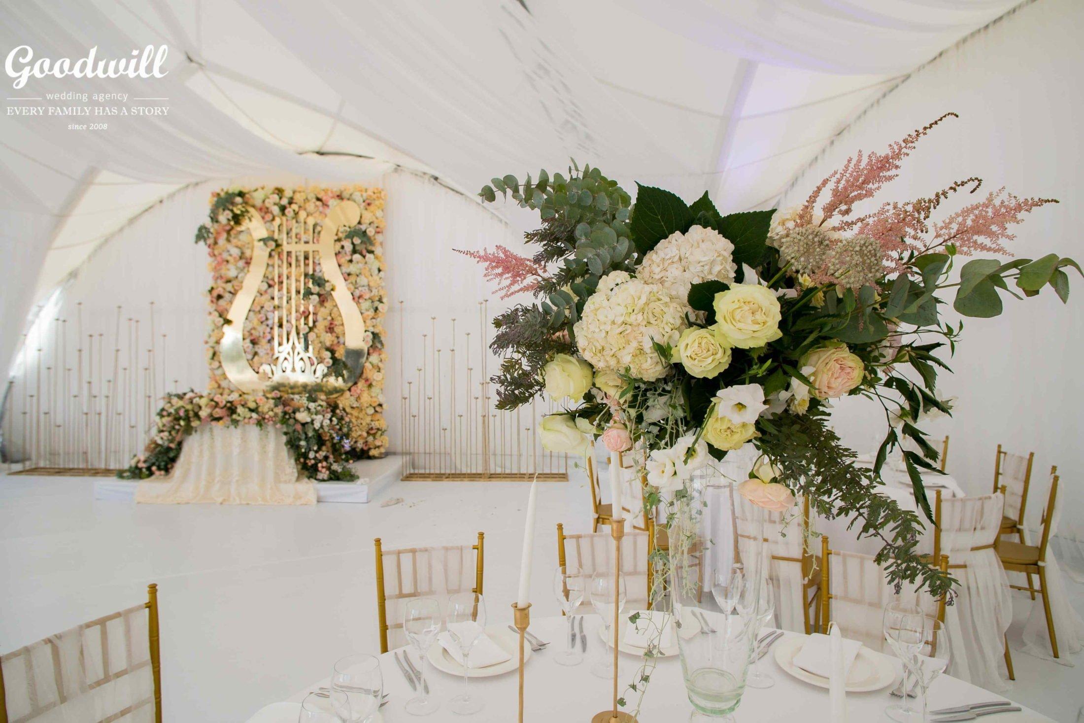 Организация банкета на свадьбу в Крыму