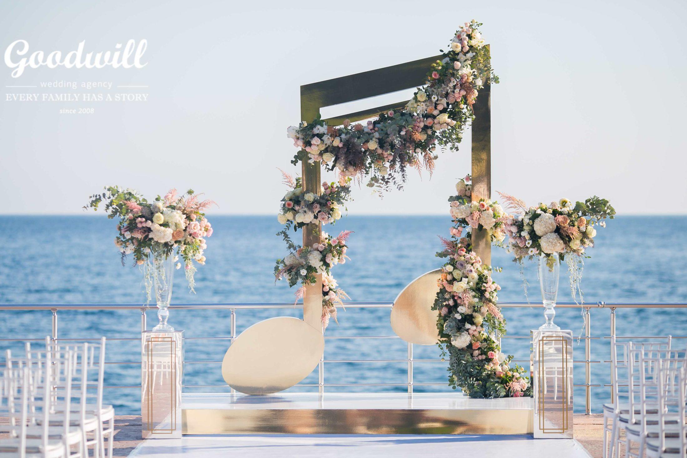 Выездная церемония у моря в Крыму