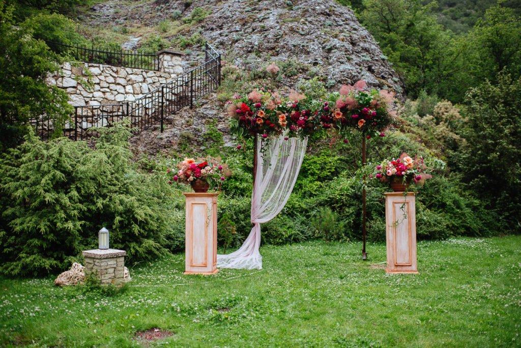 Декор выездной церемонии Крым