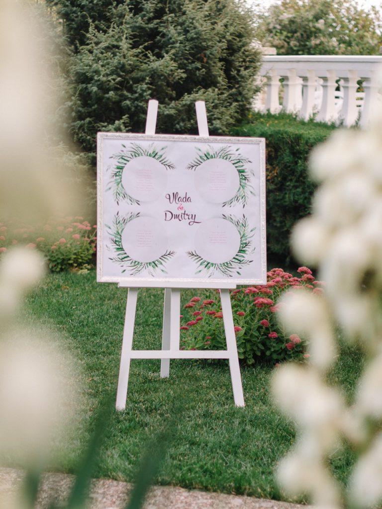 Карта рассадки на свадьбу в Крыму