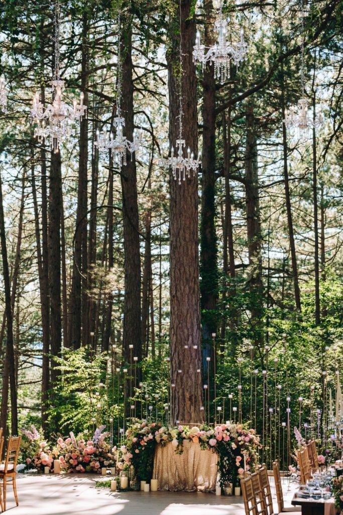 Декор банкета свадьбы в Крыму