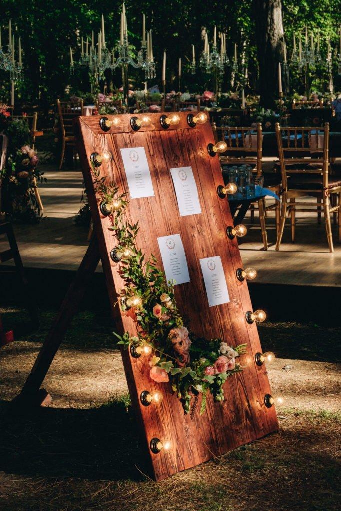 Карта рассадки гостей на свадьбу в Крыму
