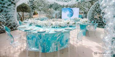 oformlenie-zala-2-5-375x187 Оформление зала для свадьбы. Разбираем по деталям, картинка, фотография