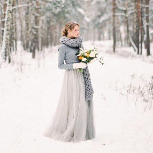 plate-zimoj-5-490x490 Платье невесты зимой: лайфхак «Как сделать свой образ незабываемым», картинка, фотография