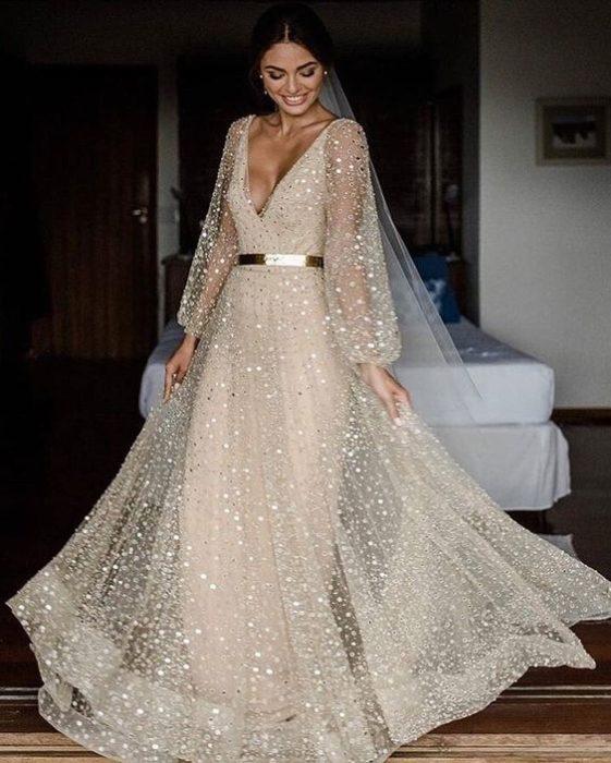 plate-zimoj-9-561x700 Платье невесты зимой: лайфхак «Как сделать свой образ незабываемым», картинка, фотография