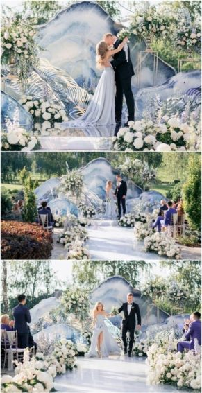 oformlenie-svadby-v-morskom-stile-19-291x567 Оформление свадьбы в морском стиле, картинка, фотография