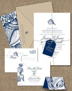 oformlenie-svadby-v-morskom-stile-2-307x386 Оформление свадьбы в морском стиле, картинка, фотография