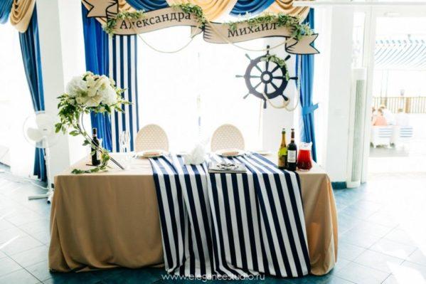 oformlenie-svadby-v-morskom-stile-599x399 Оформление свадьбы в морском стиле, картинка, фотография